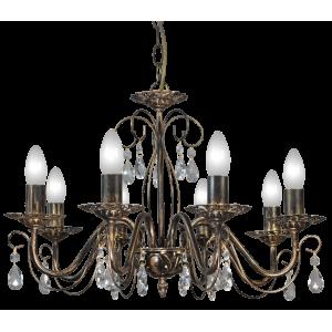 4600 р. Люстра хрустальная подвесная Аврора 8 ламп, цвет чёрный